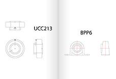 Výkresy upínacích ložisek veformátu ZIP/DXF pro CAD aplikace