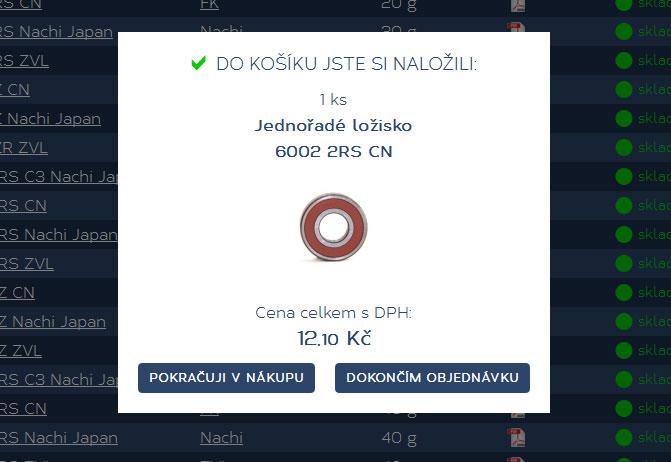 Nové nakupování na e-shopu Korbel - ložiska, s. r. o.