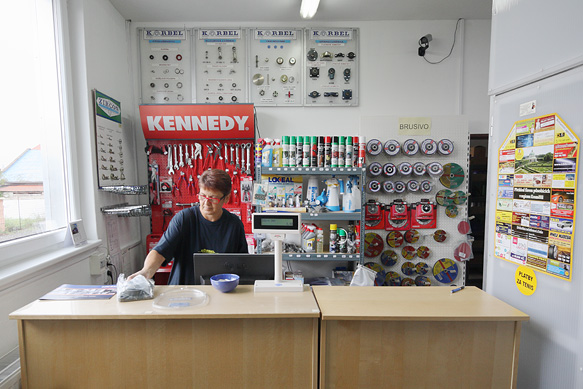 Sales of bearings in our brick and mortar store in Kroměříž