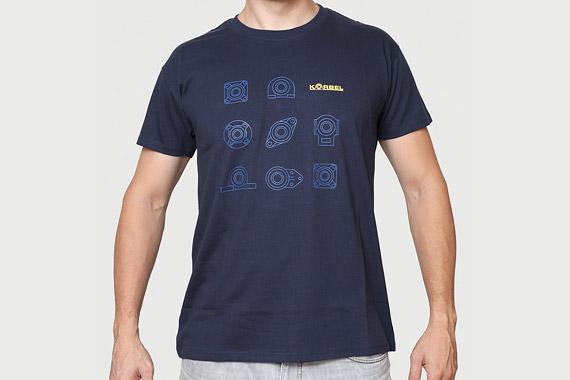 Bavlněné reklamní tričko složiskovým motivem Korbel